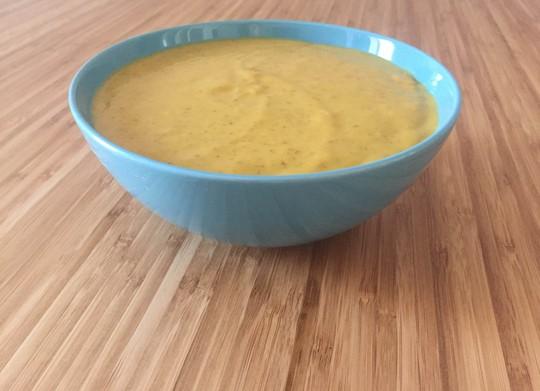 Crema de zanahoria y lentejas al curry
