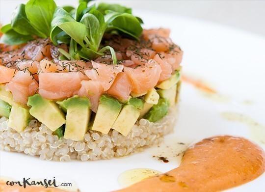 Ensalada de quinoa con aguacate y salm n - Ensalada con salmon y aguacate ...