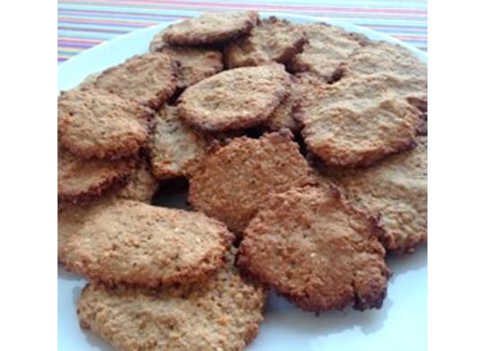 galletas de avena con nueces y semillas sin azúcar